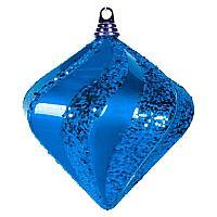 "Елочная фигура ""Алмаз"",  20 см,  цвет синий"
