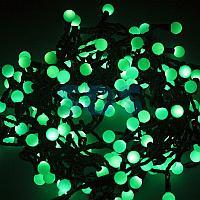 """Гирлянда """"Мультишарики"""" Ø17,5мм,  20 м,  черный ПВХ,  200 диодов,  цвет зеленый,  24В"""