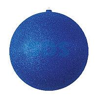 "Елочная фигура ""Шар с блестками"",  30 см,  цвет синий"