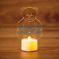 """Фигура светодиодная на подставке """"Мишка 2D"""",  RGB"""