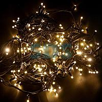 "Гирлянда модульная ""Дюраплей LED"" 20м 200 LED черный каучук ,  мерцающий ""Flashing"" (каждый 5-й диод),  ТЕПЛЫЙ"