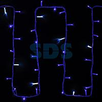 "Гирлянда модульная ""Дюраплей LED"" 20м 200 LED белый каучук ,  мерцающий ""Flashing"" (каждый 5-й диод),  Синяя"