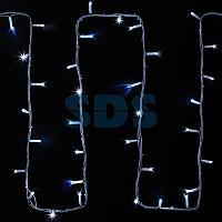"""Гирлянда модульная """"Дюраплей LED"""" 20м 200 LED белый каучук ,  мерцающий """"Flashing"""" (каждый 5-й диод),  Белая"""