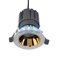 Светильник встраиваемый поворотный REXANT Horeca Dark Light с антиослепляющим эффектом 12 Вт 4000 К LED GOLD