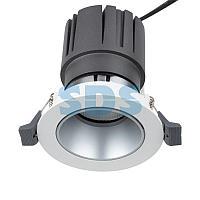 Светильник встраиваемый поворотный REXANT Horeca Dark Light с антиослепляющим эффектом 12 Вт 4000 К LED SILVER