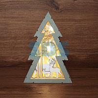 Деревянная фигурка с подсветкой «Елочка» 20х6,5х29 см
