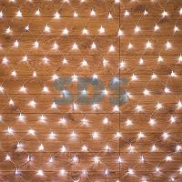 "Гирлянда ""Сеть"" 1,5х1,5м,  прозрачный ПВХ,  150 LED Белые"