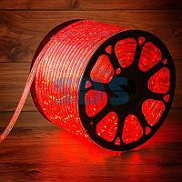 Дюралайт LED,  постоянное свечение (2W) - красный,  30 LED/м,  бухта 100м