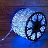 Дюралайт LED,  постоянное свечение (2W) - синий,  30 LED/м,  бухта 100м
