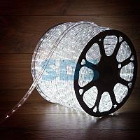 Дюралайт LED,  постоянное свечение (2W) - белый,  30 LED/м,  бухта 100м