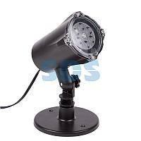 LED проектор,  белые снежинки,  230В