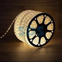 Дюралайт LED, постоянное свечение (2W) - ТЕПЛЫЙ БЕЛЫЙ, 24 LED/м Ø10мм, бухта 100м