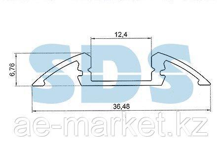 Профиль для порогов алюминиевый 3606-2, 2 м REXANT - фото 2