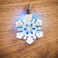 "Фигурка подвесная ""Снежинка"" RGB 6*6 см"