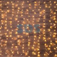 """Гирлянда """"Светодиодный Дождь"""" 1,5х1,5м,  свечение с динамикой,  прозрачный провод,  230 В,  диоды ТЕПЛЫЙ БЕЛЫЙ"""