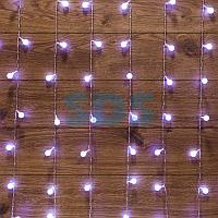 """Гирлянда """"Светодиодный Дождь"""" 1,5*1,5 м,  с насадками шарики,  свечение с динамикой,  прозрачный провод,  230"""