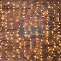 """Гирлянда """"Светодиодный Дождь"""" 2*3 м,  свечение с динамикой,  прозрачный провод,  230 В,  цвет Теплый Белый"""