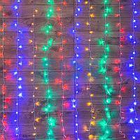 """Гирлянда """"Светодиодный Дождь"""" 2*3 м,  свечение с динамикой,  прозрачный провод,  230 В,  диоды Мультиколор"""