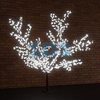 """Светодиодное дерево """"Сакура"""",  высота 1,5м,  диаметр кроны 1,8м,  белые светодиоды,  IP 65, понижающий"""