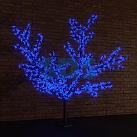 """Светодиодное дерево """"Сакура"""",  высота 2,4м,  диаметр кроны 2,0м,  синие светодиоды,  IP 65, понижающий"""