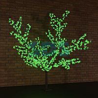 """Светодиодное дерево """"Сакура"""",  высота 2,4м,  диаметр кроны 2,0м,  зеленые светодиоды,  IP65, понижающий"""