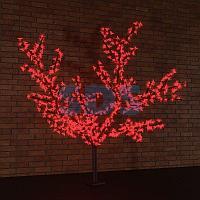 """Светодиодное дерево """"Сакура"""",  высота 2,4 м,  диаметр кроны 1,72м,  красные диоды,  IP 65, понижающий"""