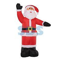 """3D фигура надувная """"Дед Мороз приветствует"""",  размер 150 см,  внутренняя подсветка 4 LED,  компрессор с"""