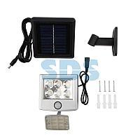 Прожектор поворотный Lamper LED 98х150х30 мм с выносной солнечной панелью 2 м и аккумулятором,  IP65,
