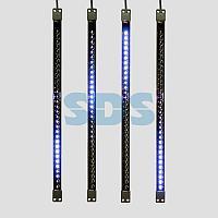 Сосулька светодиодная 50 см,  9,5V,  двухсторонняя,  32х2 светодиодов,  пластиковый корпус черного цвета,