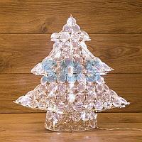"""Фигура стеклянная """"Новогодняя Ель"""" 40см,  50 светодиодов,  IP44 понижающий трансформатор в комплекте,"""