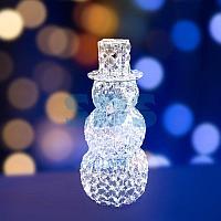 """Фигура стеклянная """"Снеговик"""" 50см,  60 светодиодов,  IP44 понижающий трансформатор в комплекте,  NEON-NIGHT"""