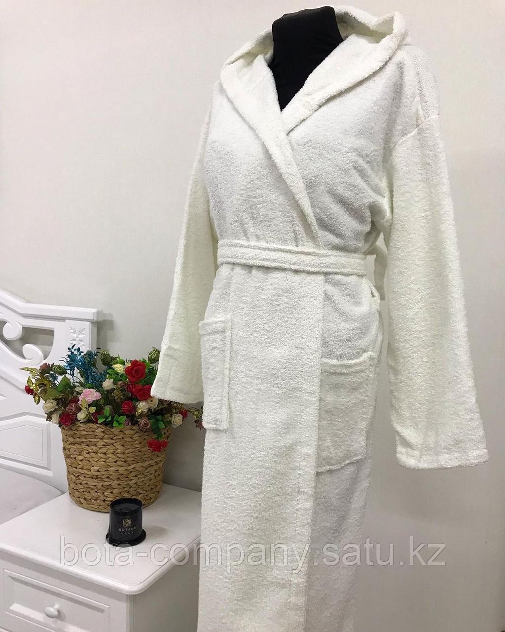 Банный белый халат