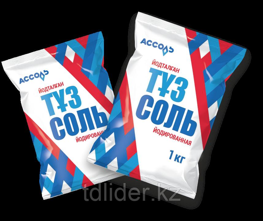 Поваренная пищевая самосадочная йодированная соль 1000 гр