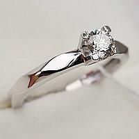 Золотое кольцо с бриллиантами 0.30Сt SI1/J, VG - Cut, фото 1