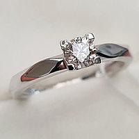 Золотое кольцо с бриллиантами 0.27Сt I1/L, VG - Cut, фото 1