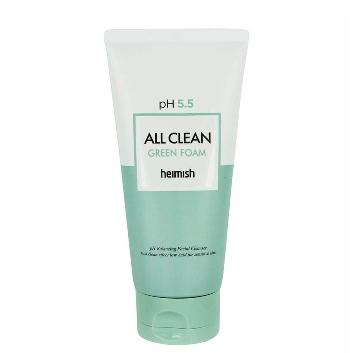 Heimish Слабокислотный гель для умывания чувствительной кожи pH 5.5 All Clean Green Foam / 150 мл.