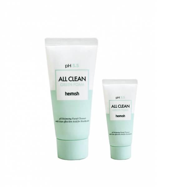 Heimish Слабокислотный гель для умывания чувствительной кожи pH 5.5 All Clean Green Foam / 30 мл.