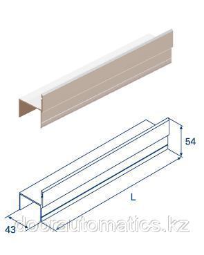 Алюминиевый профиль ц-образный для калитки