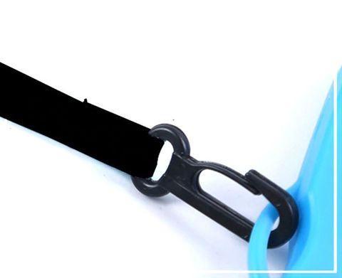 Чехол для смартфона водонепроницаемый со спасательным кругом и ремешком IPX8 (Синий) - фото 6