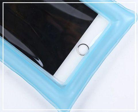 Чехол для смартфона водонепроницаемый со спасательным кругом и ремешком IPX8 (Синий) - фото 8