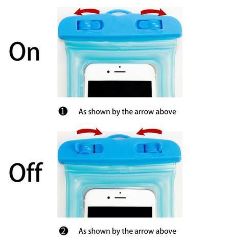 Чехол для смартфона водонепроницаемый со спасательным кругом и ремешком IPX8 (Синий) - фото 10