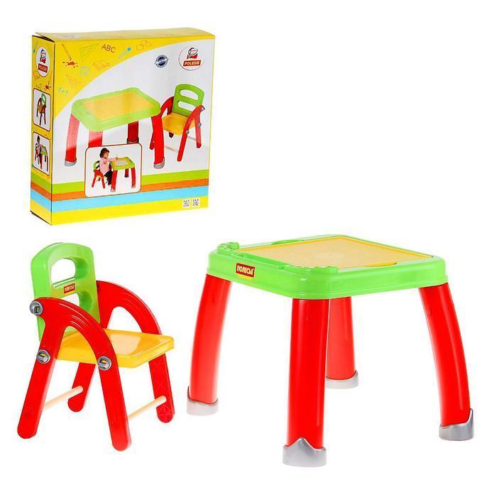 Набор детской мебели: стол для творчества со стулом - фото 1