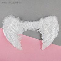 Карнавальные крылья ангела, на резинке, цвет белый