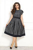 Женское летнее синее нарядное большого размера платье Solomeya Lux 840 синий 48р.