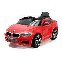 Электромобиль BMW 6 Series GT, цвет красный, EVA колеса, кожаное сиденье, уценка