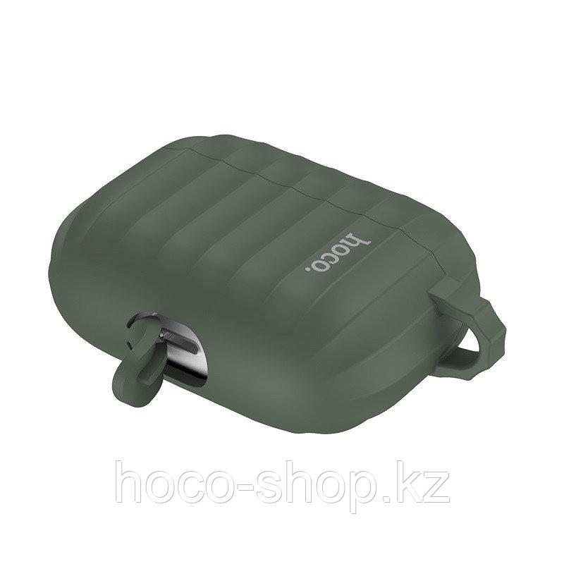 Чехол для наушников Hoco WB20 Fenix для AirPods Pro зеленый - фото 2