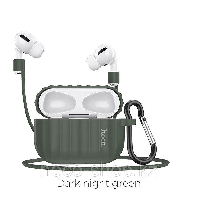 Чехол для наушников Hoco WB20 Fenix для AirPods Pro зеленый - фото 1