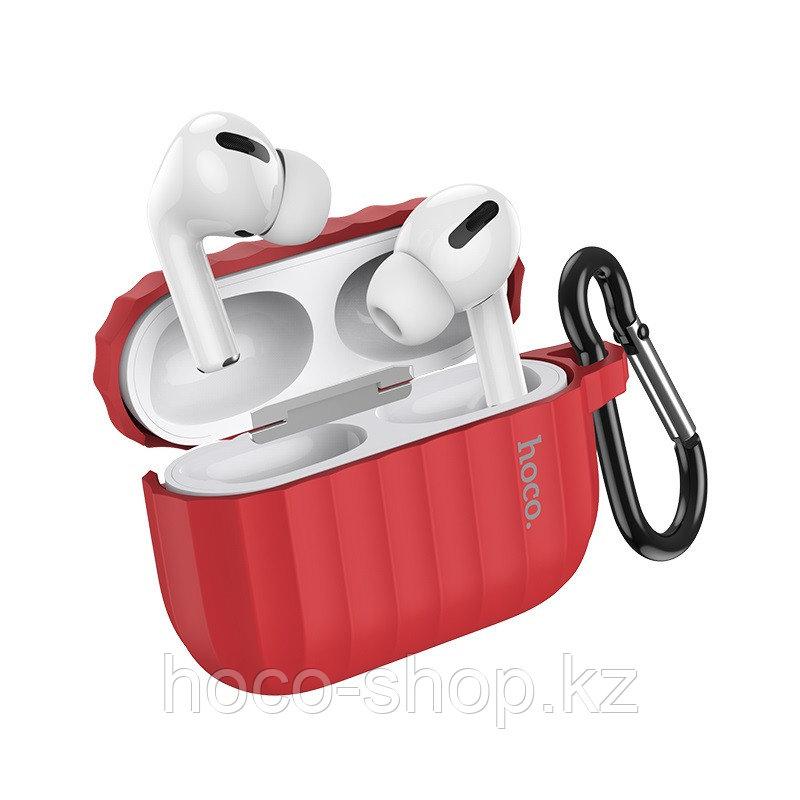 Чехол для наушников Hoco WB20 Fenix для AirPods Pro красный - фото 1