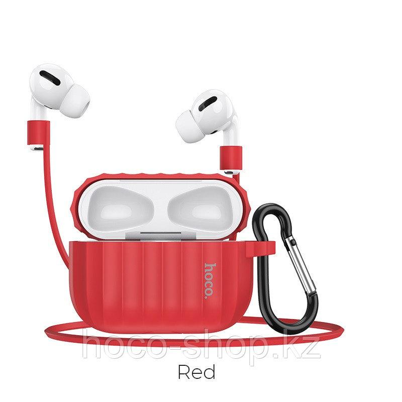 Чехол для наушников Hoco WB20 Fenix для AirPods Pro красный - фото 2