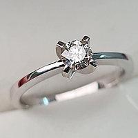 Золотое кольцо с бриллиантами 0.27Сt SI2/K, EX - Cut